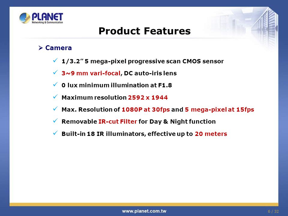 Product Features  Camera