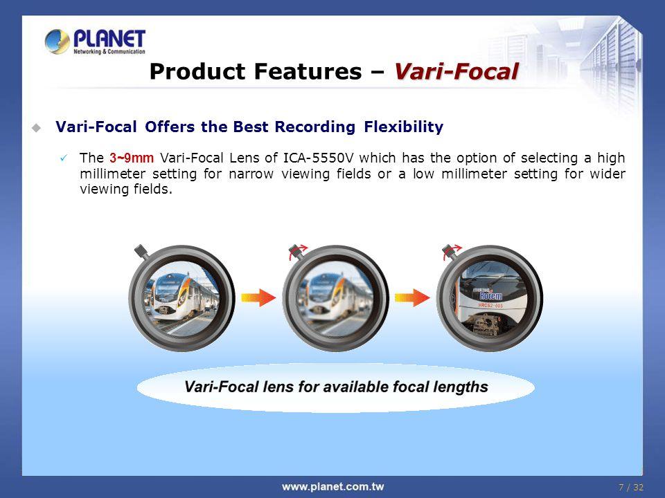 Product Features – Vari-Focal