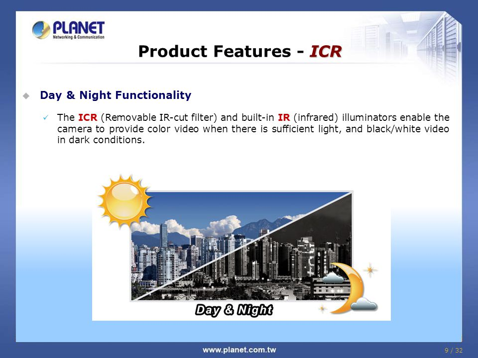 Product Features - ICR Day & Night Functionality