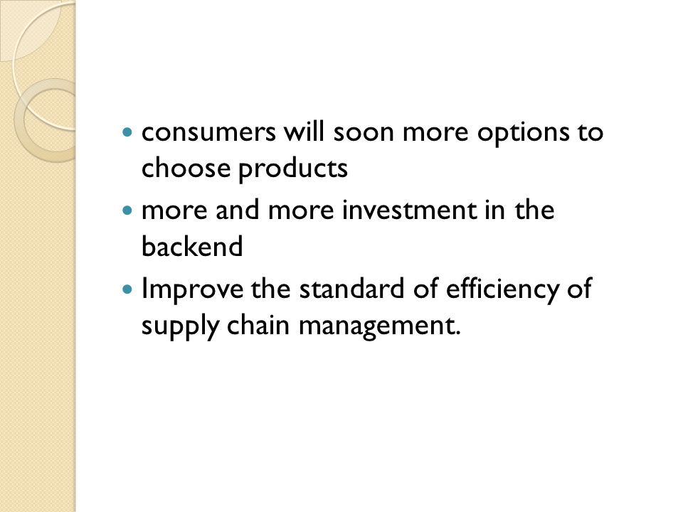 consumers will soon more options to choose products