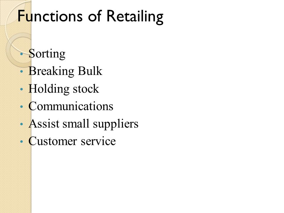 Functions of Retailing
