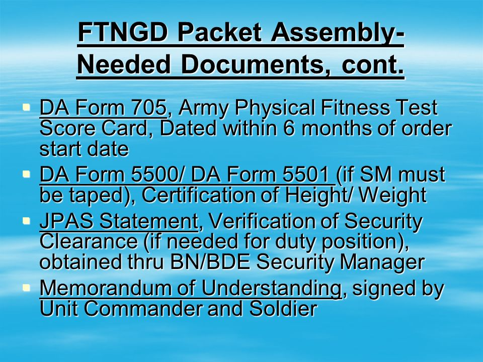 Full Time National Guard Duty (FTNGD) Packet Training - ppt video ...