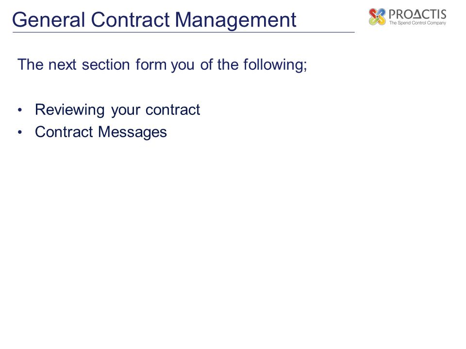 General Contract Management