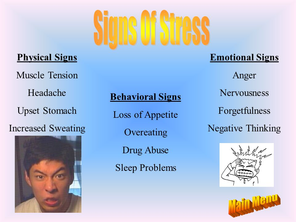 Signs Of Stress Main Menu Physical Signs Muscle Tension Headache