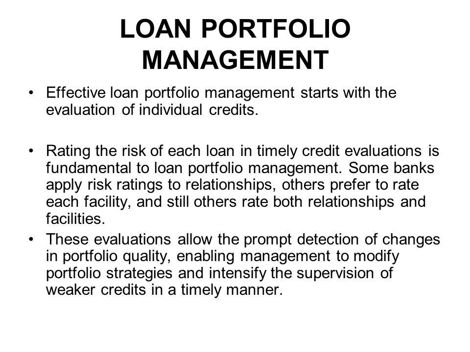 loan portfolio management Comptroller's handbook: loan portfolio management.
