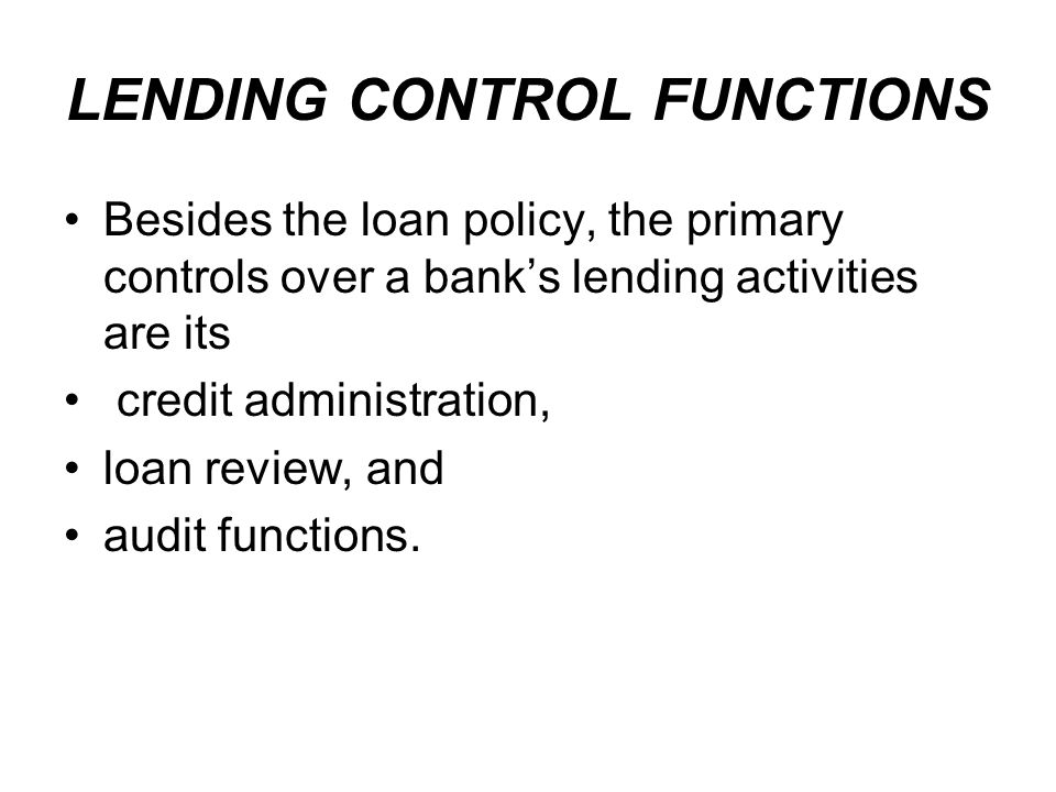Credit Control Policy Revised