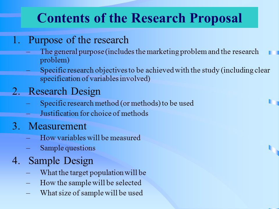 research proposal presentation example