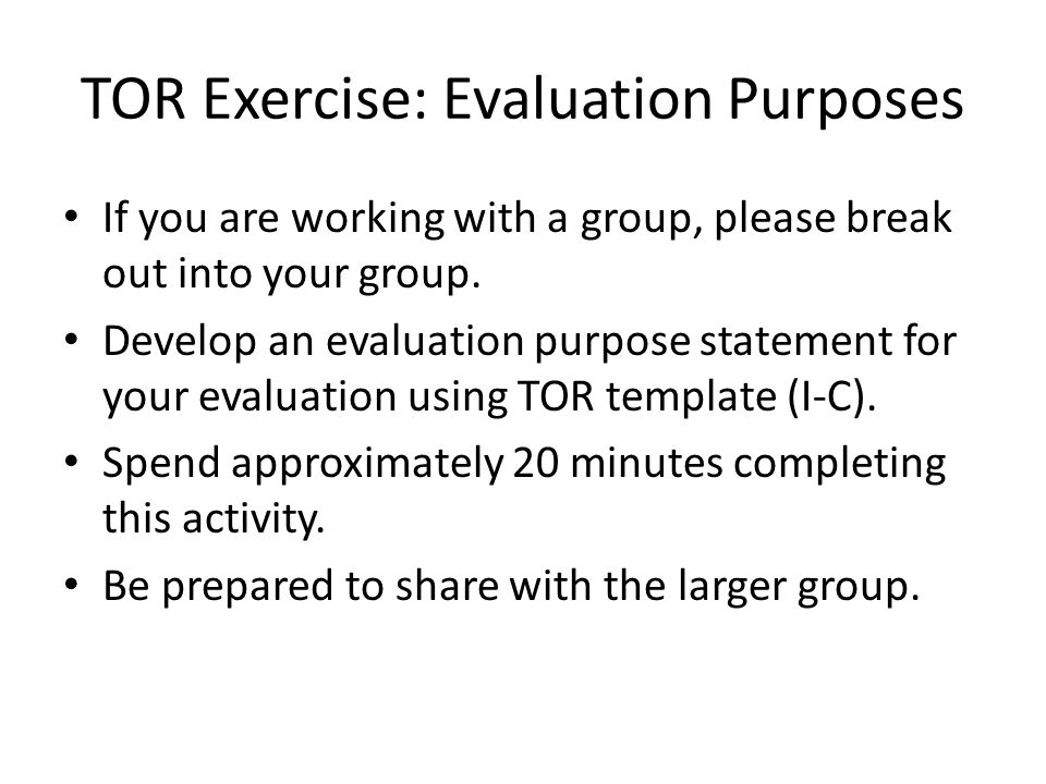 Evaluation For ME And Program Managers  Ppt Download