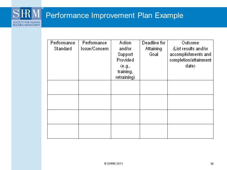 Excellent Performance Management Plan Template Gallery  Example