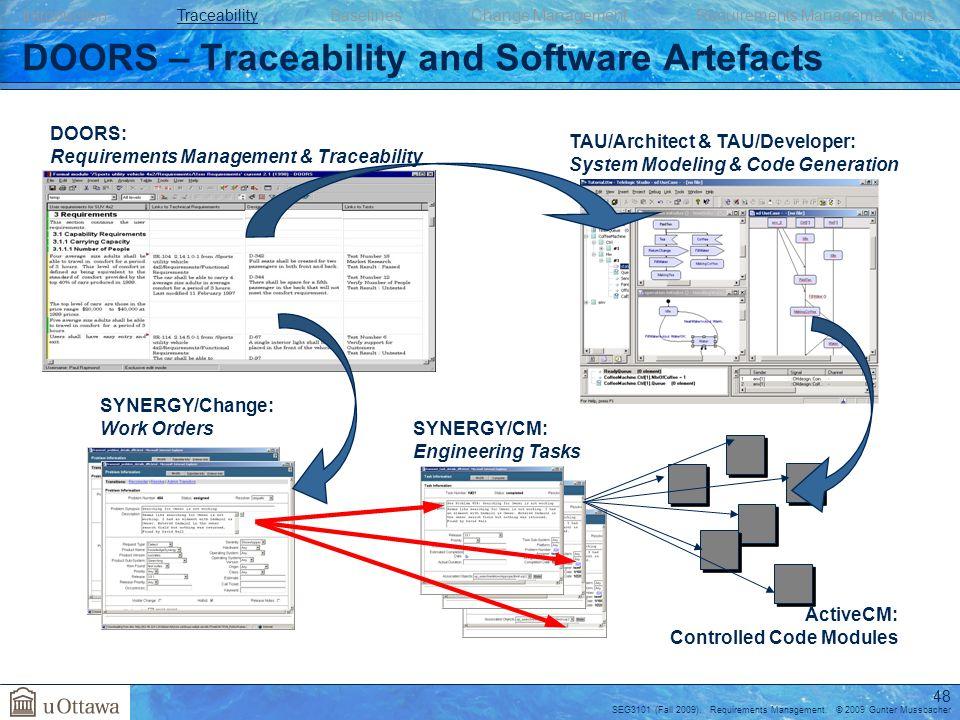 48 DOORS \u2013 Traceability ...  sc 1 st  SlidePlayer & Requirements Management - ppt download