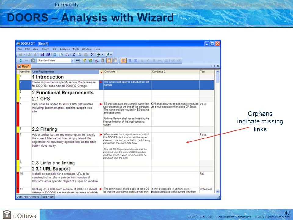 49 DOORS \u2013 Analysis with Wizard  sc 1 st  SlidePlayer & Requirements Management - ppt download