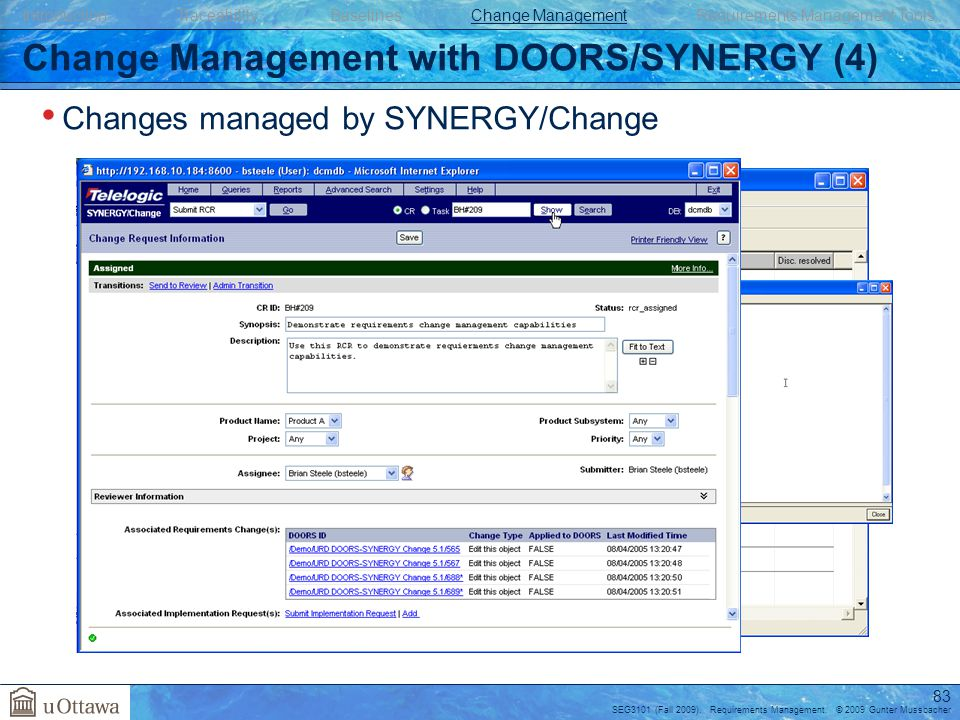 Change Management with DOORS/SYNERGY (4)  sc 1 st  SlidePlayer & Requirements Management - ppt download pezcame.com