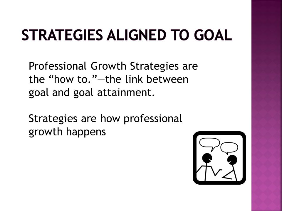 Strategies Aligned to Goal