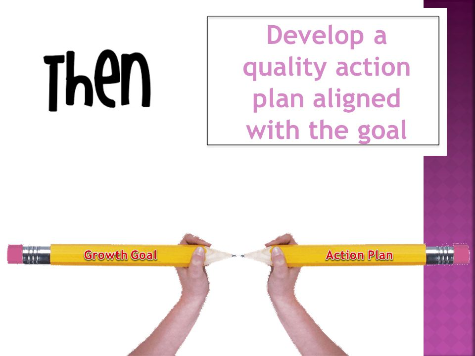 Develop a quality action plan aligned with the goal