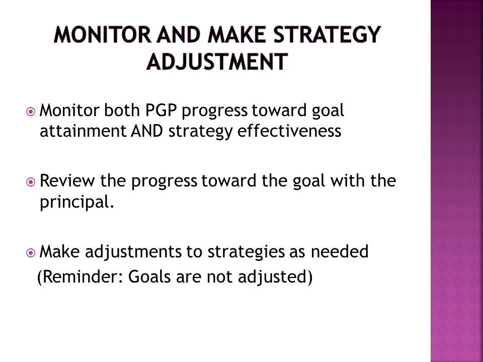 MONITOR and Make Strategy Adjustment