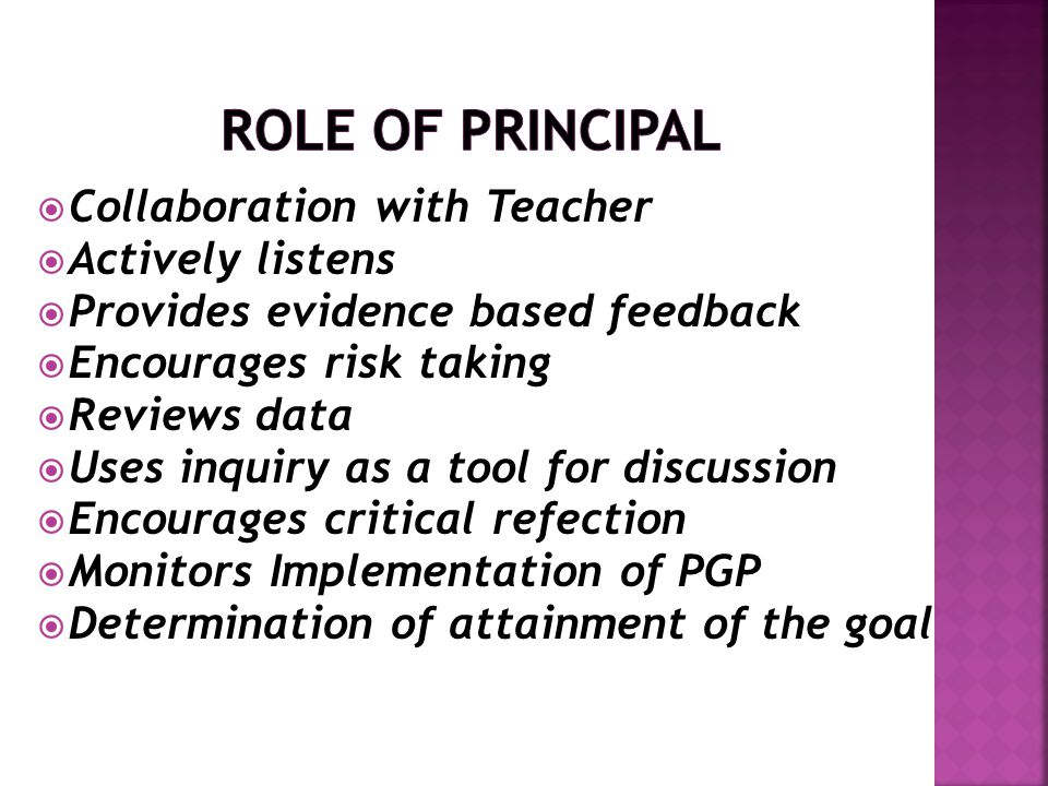 Role of Principal Collaboration with Teacher Actively listens
