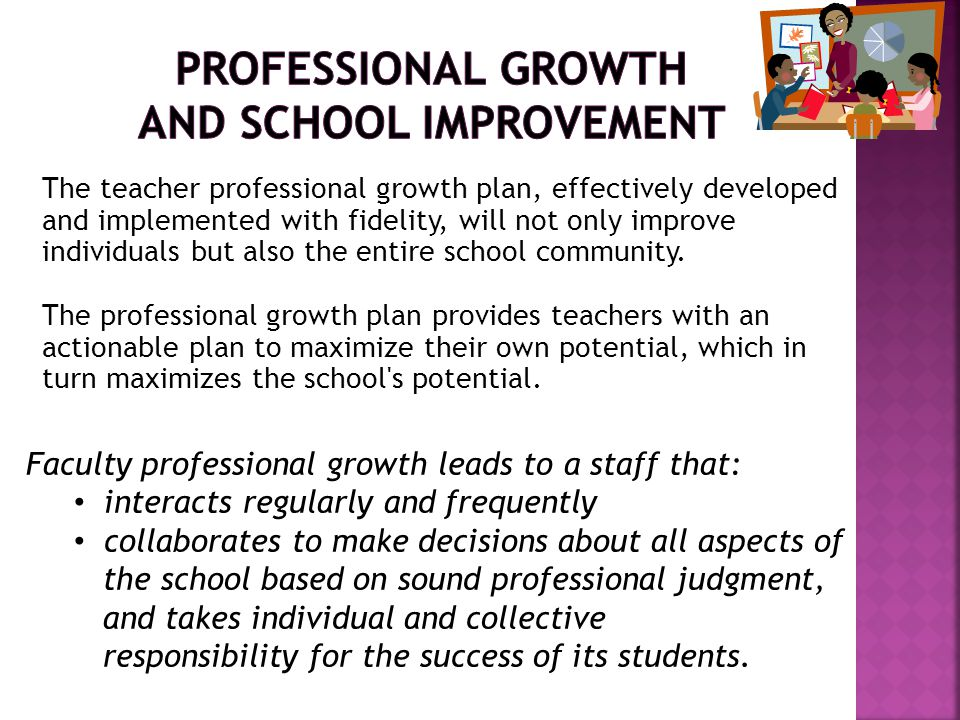 Professional Growth and School Improvement