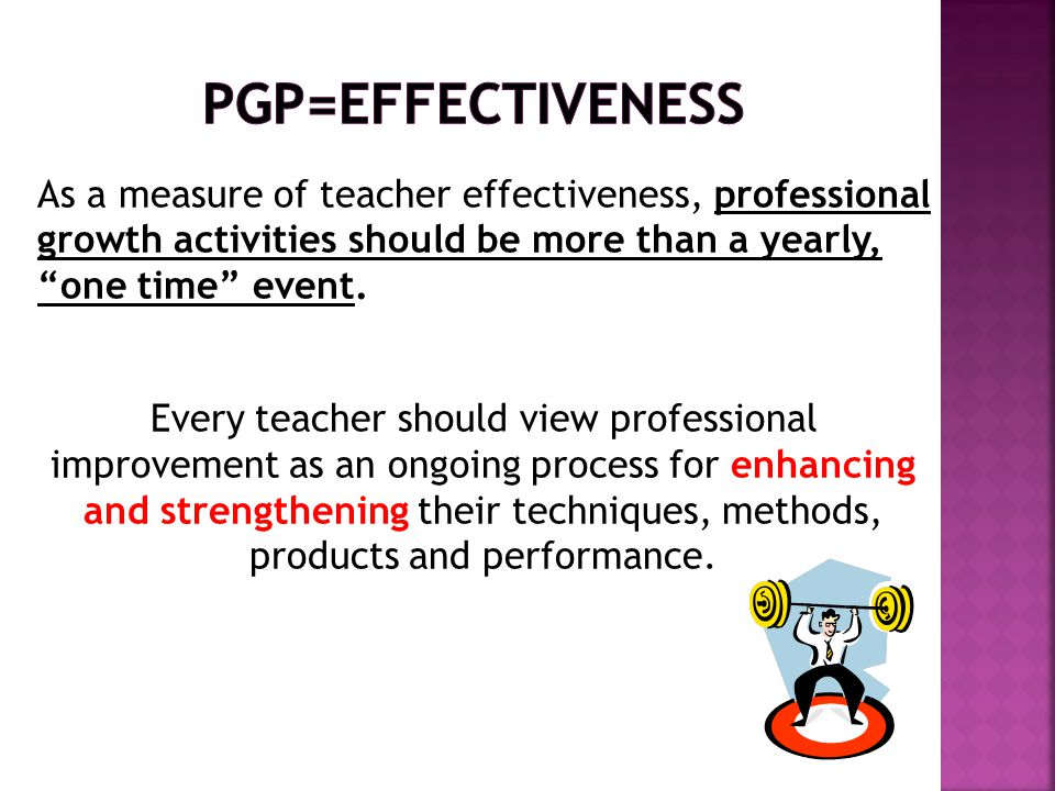 PGP=EFFECTIVENESS