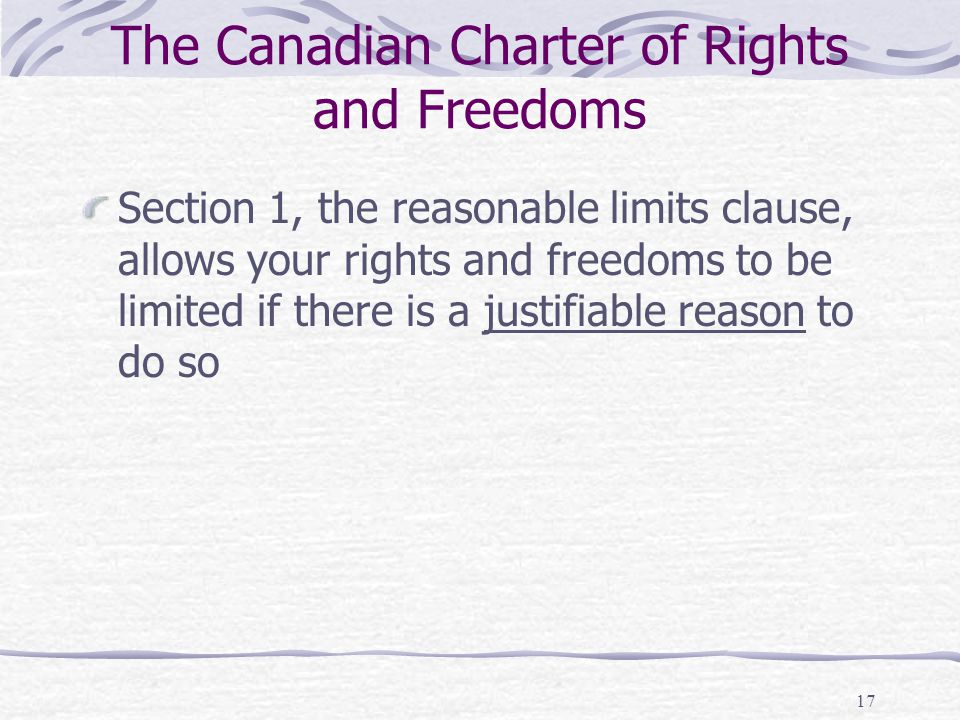 Section 33 of the Canadian Charter of Rights and Freedoms