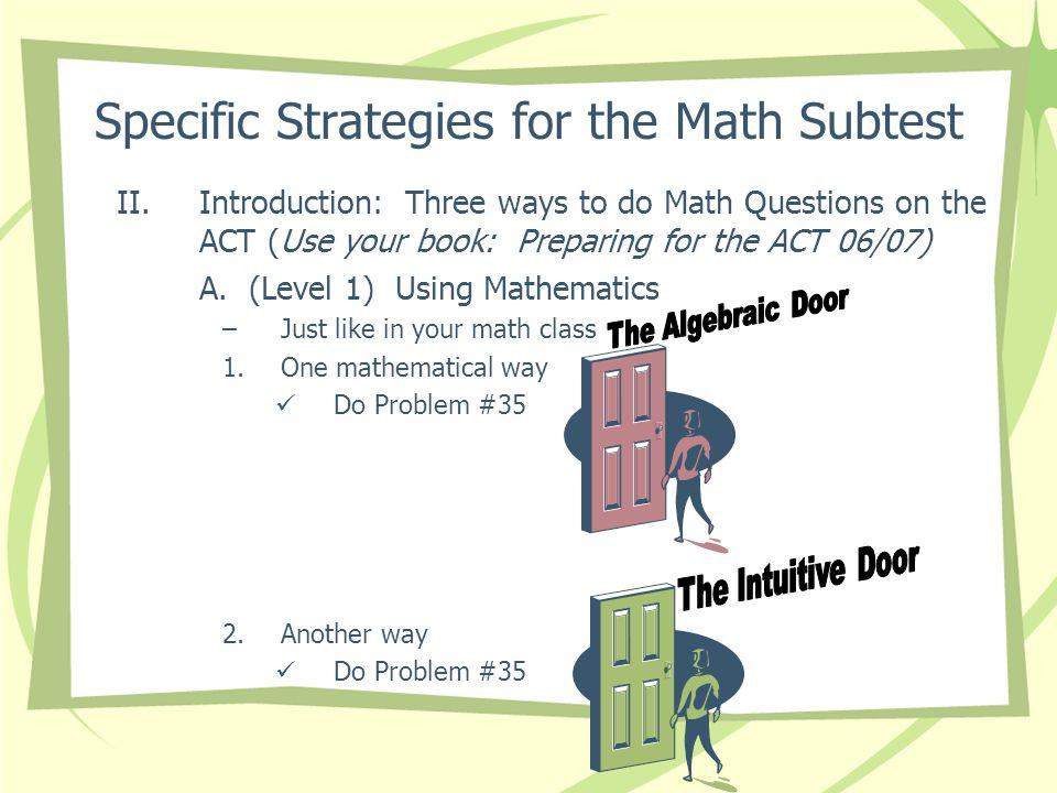 Act prep worksheets math
