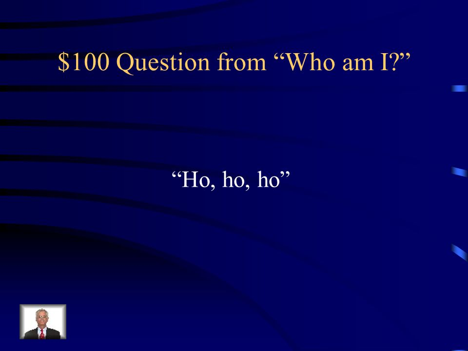 $100 Question from Who am I
