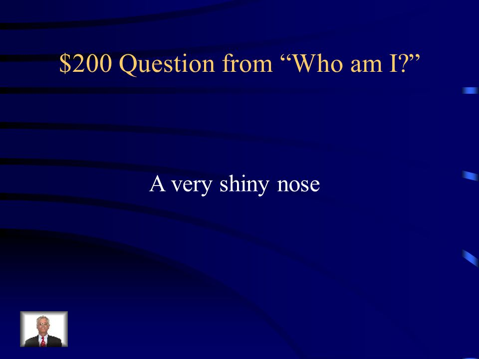 $200 Question from Who am I