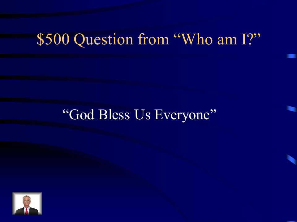 $500 Question from Who am I