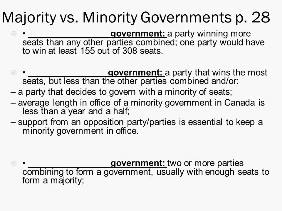 the minority vs the majority essay The majority and the minority bring forth change in policy in a democratic society majority rule means that, if there were an over whelming amount of support on a issue their voices would be heard by the government.