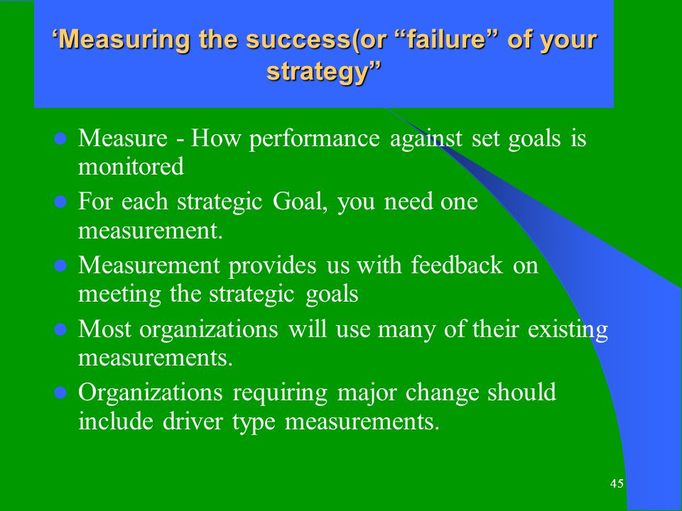 success or failure in the organizational Managerial failure and success such stories typi- cally describe a real or realistic  organizational set- ting and a chain of events from the point of view of.