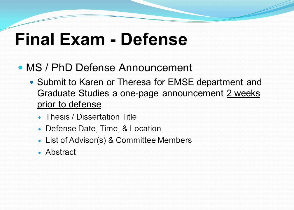 phd dissertation defense announcement Ece phd final dissertation and defense  and send your defense announcement to the graduate school dissertation submission and format check.