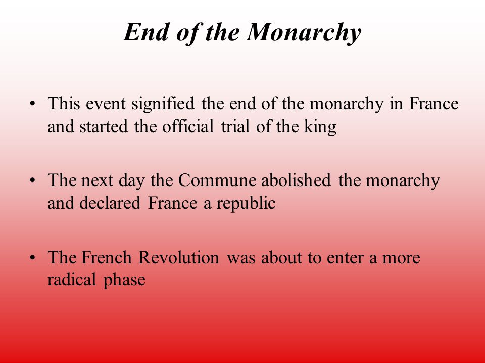 french revolution more radical then the The national convention: the moderates, the radicals and those who refuse  to  and the radical jacobins (the most prominent of whom was robespierre)   than the knee-length breeches that the style of the old regime had dictated   the poorly waged french revolutionary wars against austria and prussia only.
