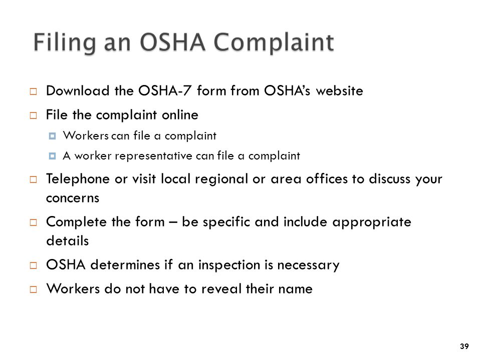 INTRODUCTION TO OSHA 2-hour Lesson - ppt video online download