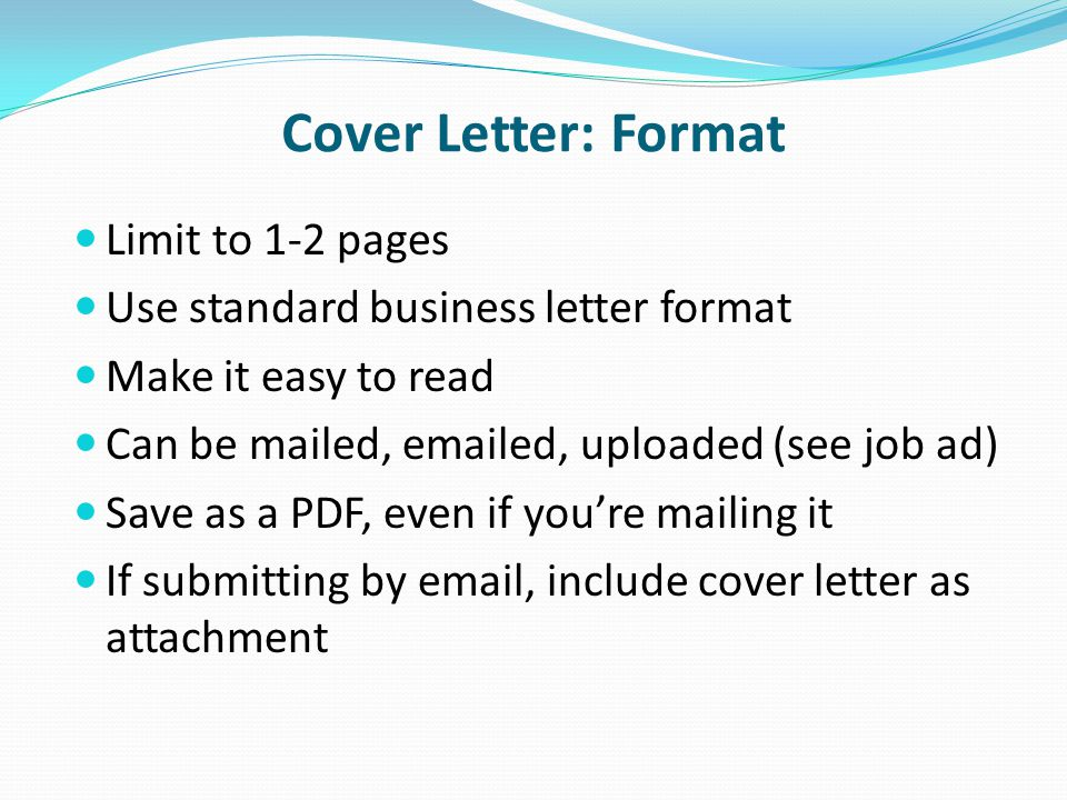 what to include on a cover letter