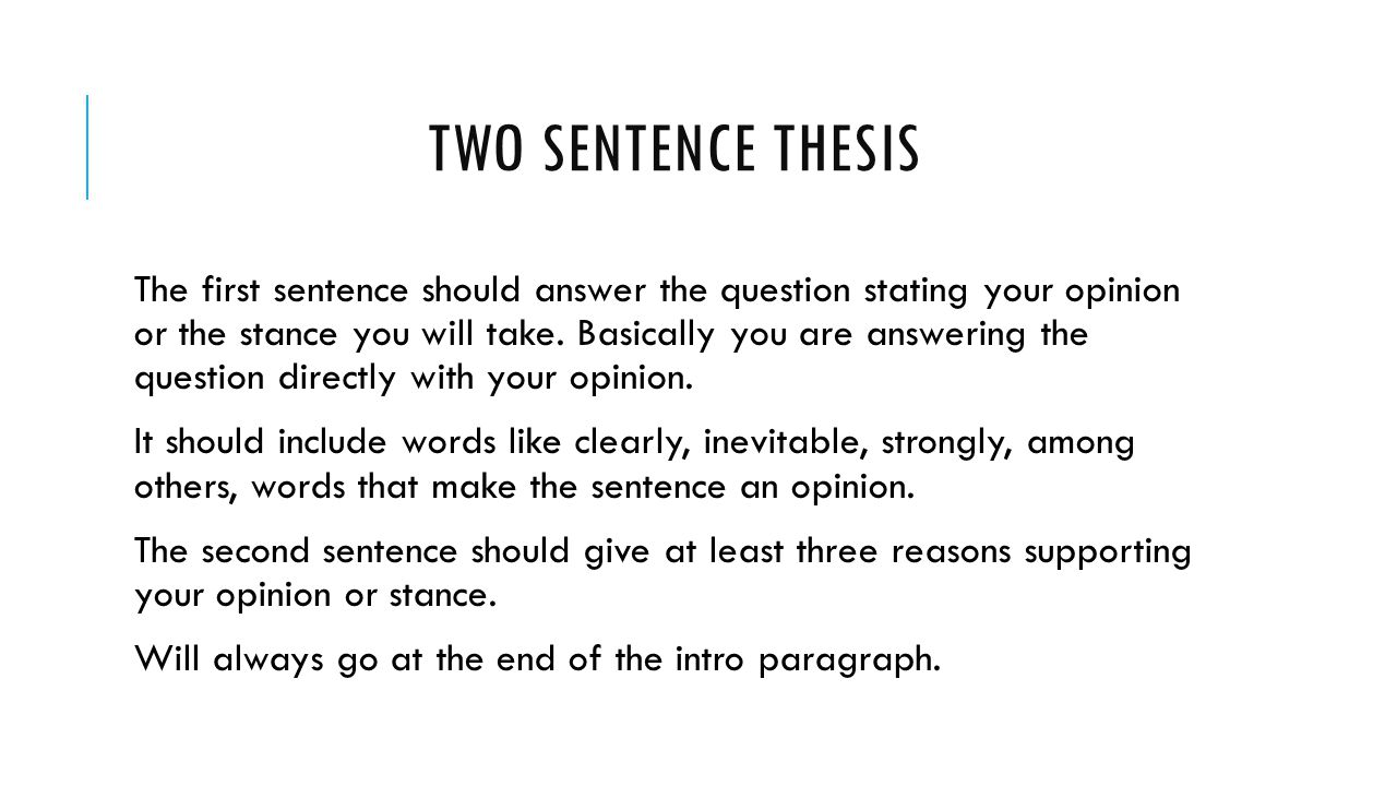 How to Write Topic Sentences and Thesis Statements