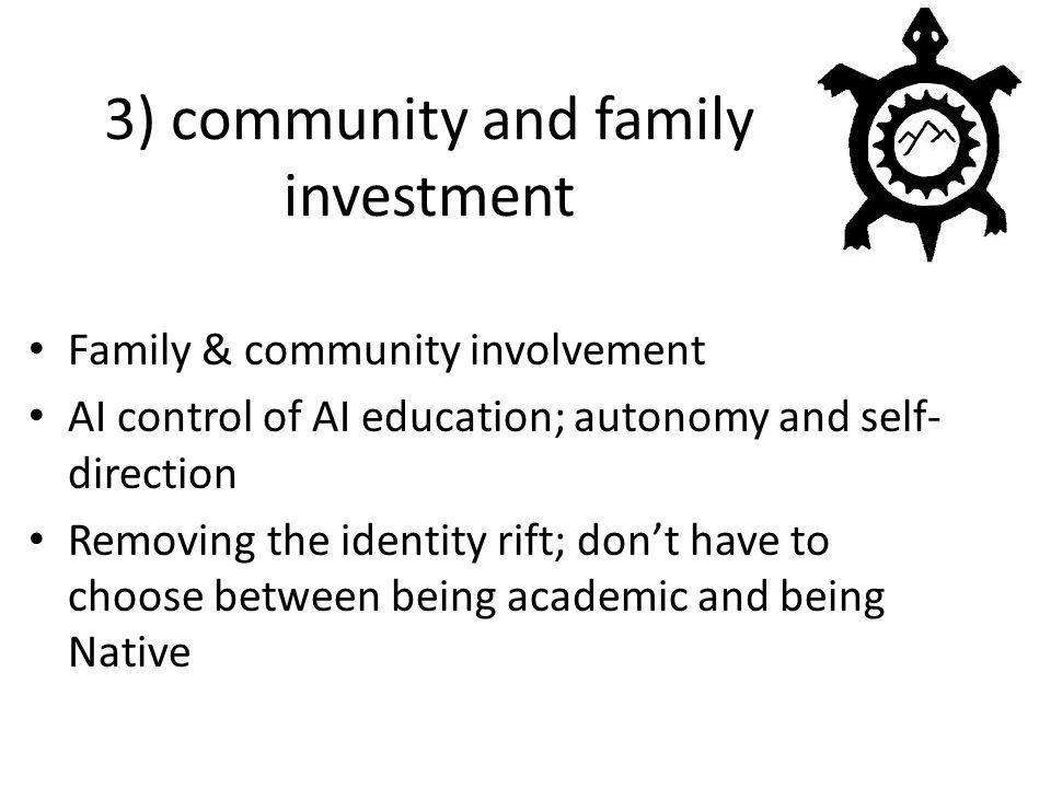 3) community and family investment