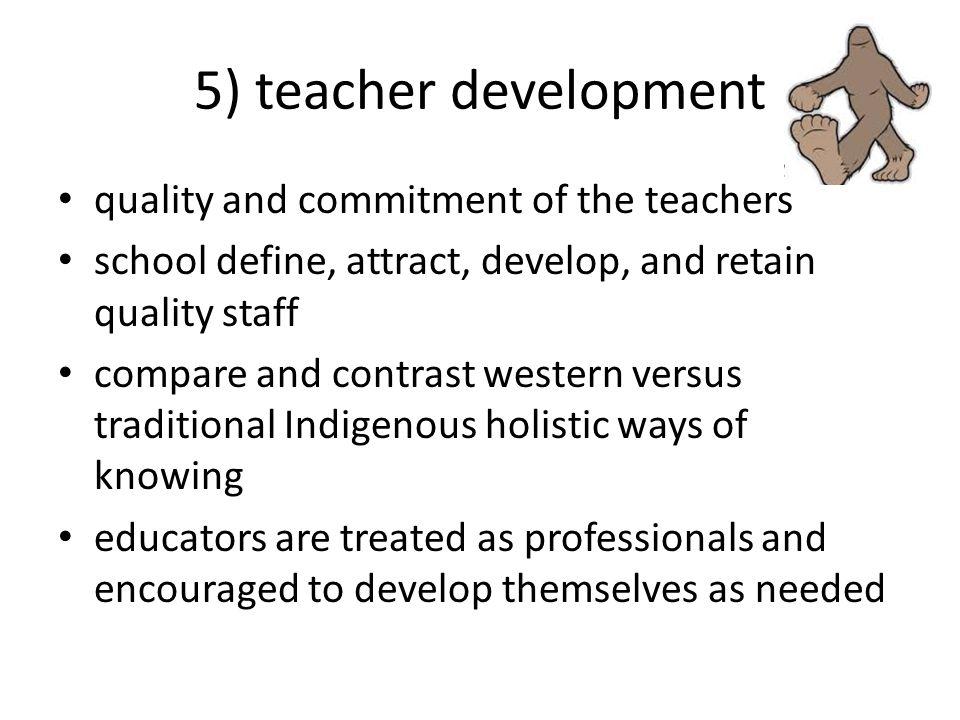 5) teacher development quality and commitment of the teachers