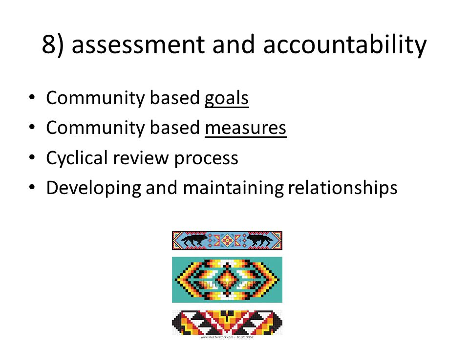 8) assessment and accountability
