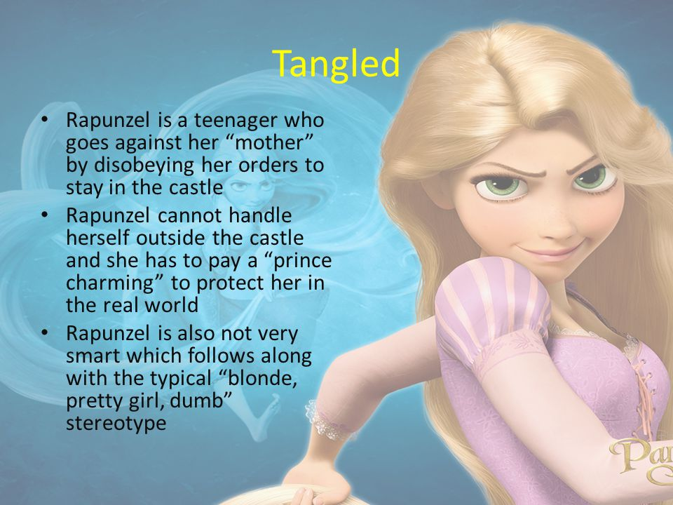 tangled in stereotypes The little mermaid and tangled have shown that gender stereotypes are still exists although both movies are still categorized as new to answer this issue, both movies were watched two.