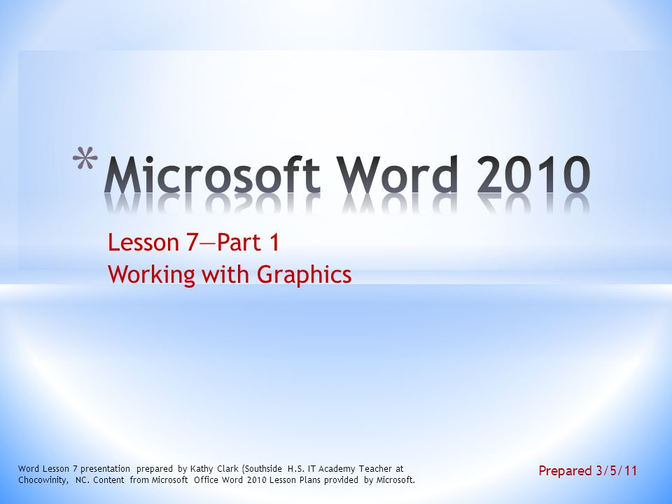 Lesson 7part 1 Working With Graphics Ppt Video Online Download