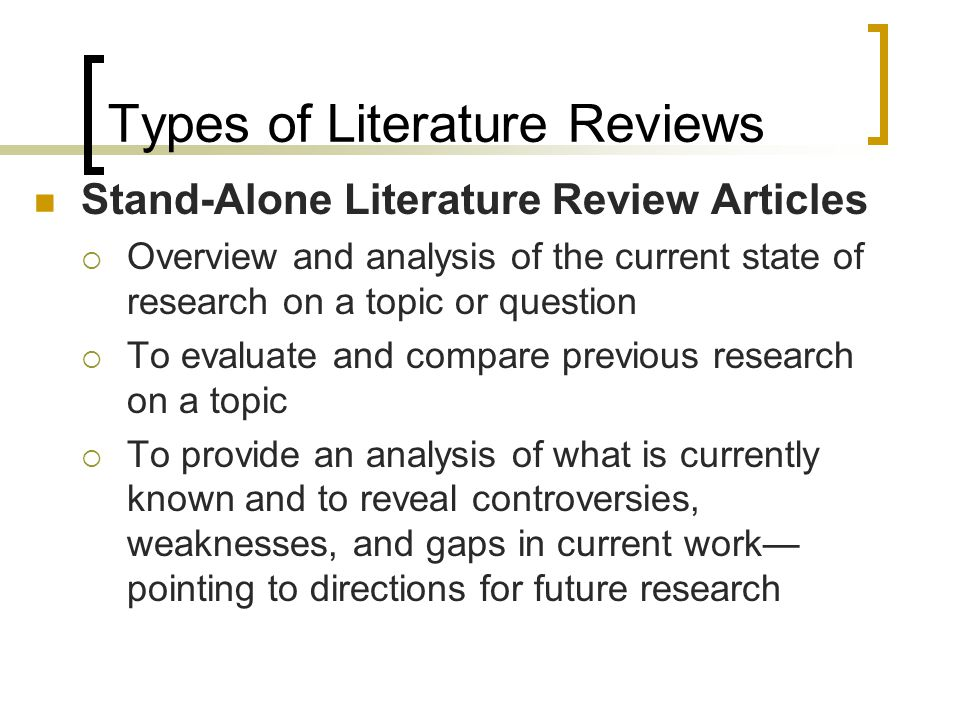 Writing A Literature Review - Ppt Video Online Download