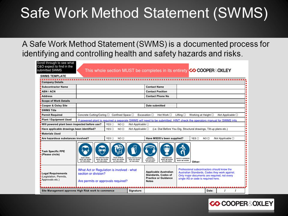 12 Safe Work Method Statement ...  Health And Safety Method Statement Template