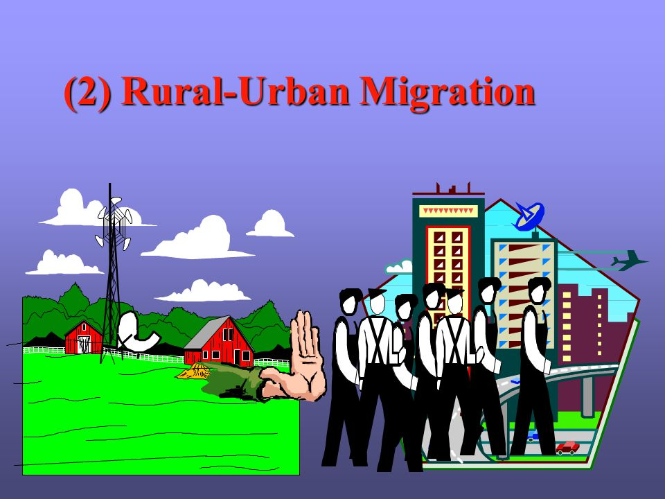 rural and urban migration The population aged 18-35 accounts for 75 % of the total migrants (mao lei,  2005) the migration patterns are: moving from rural to urban areas, from central .