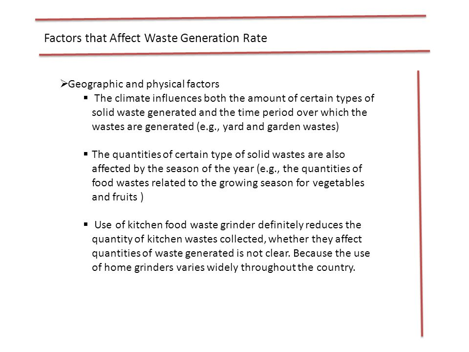 Solid Waste Generation And Collection Rate Ppt Video Online Download