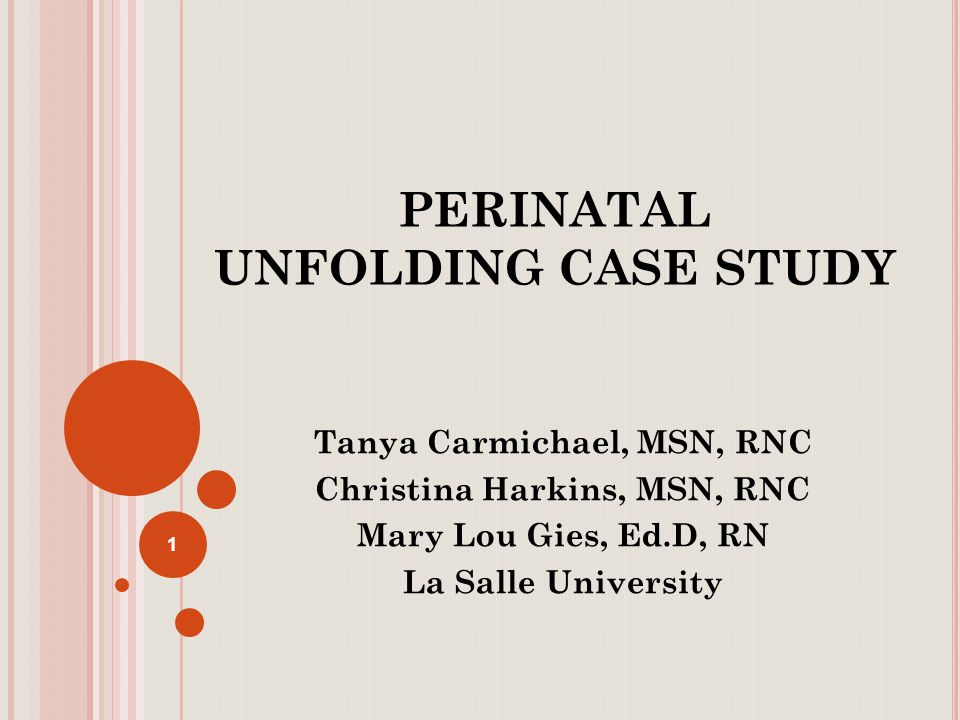 prenatal case study It's the law: hiv testing in pregnancy in new jersey case study 1 prenatal hiv  testing, community prenatal clinic mai lee is a recent immigrant from asia.