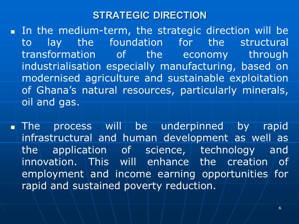 STRATEGIC DIRECTION