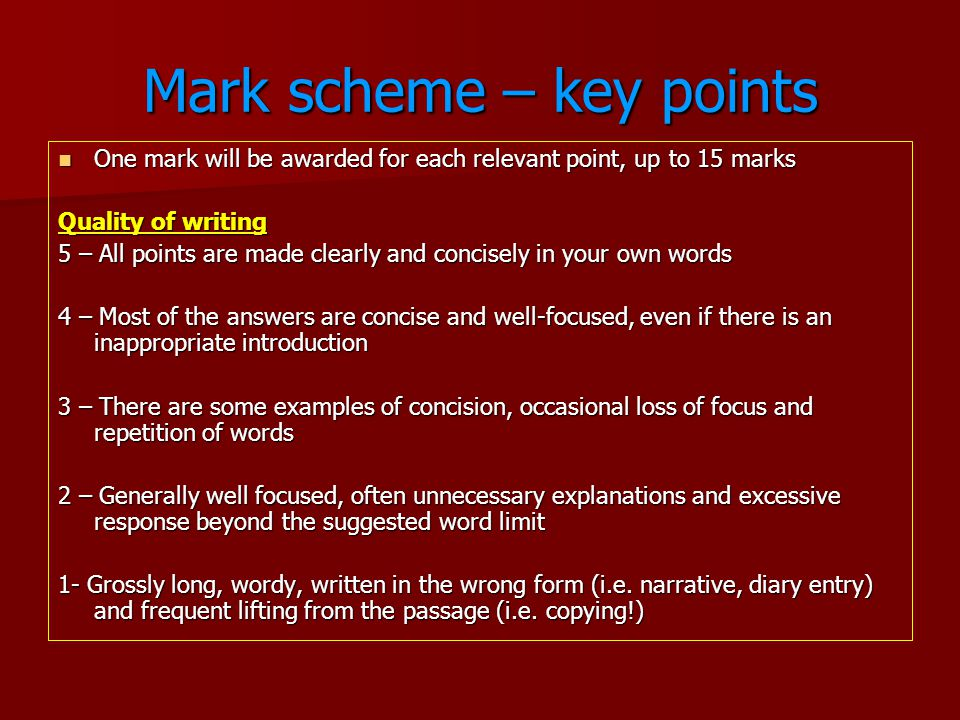 IGCSE English Language Tips - ppt video online download