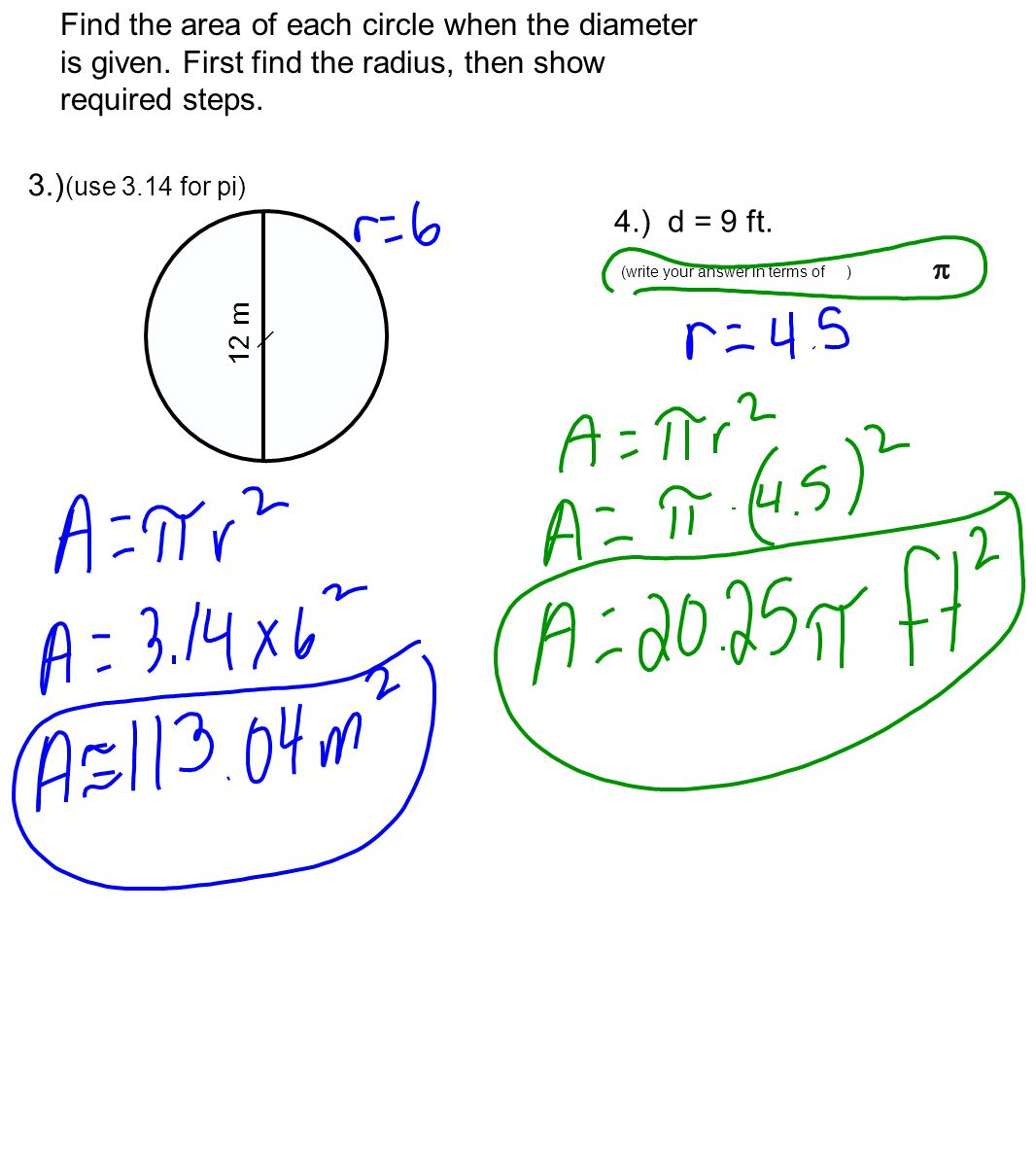 Circumference Calculator Circle Circumference And Area Of A Circle  Calculator Find The Area Of Each