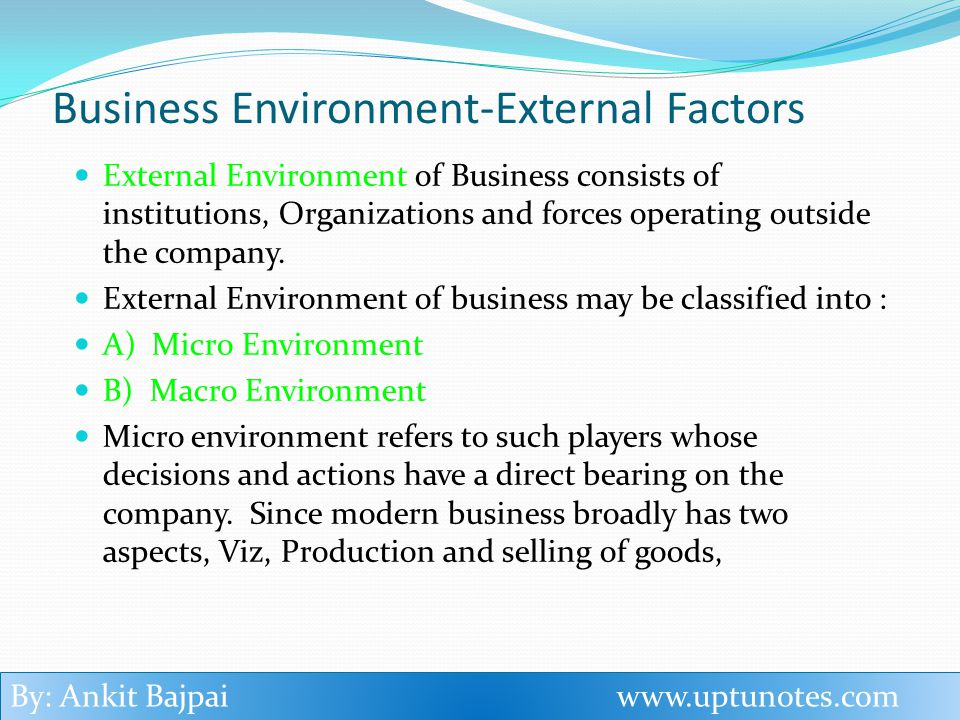 Micro environment factors such as resources in biscuit