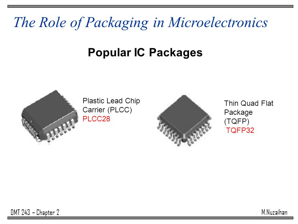 The Role of Packaging in Microelectronics