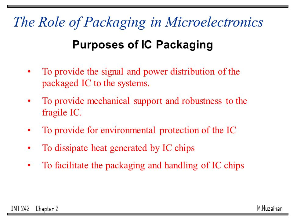 Purposes of IC Packaging